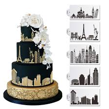 city skyline 2 cake stencil annette u0027s cakes and cake decorating