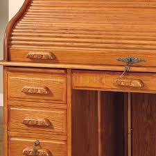 Roll Top Desk Oak Finish Elegant Deluxe Roll Top Desk