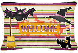 how to decorate your living room with halloween accent pillows