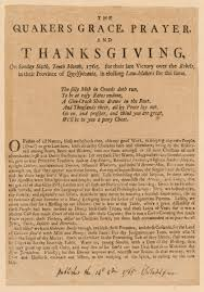 the quakers grace prayer and thanksgiving