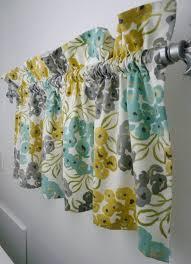 Bathroom Valances Ideas Colors Window Topper Valance Mod Flowers Gray White Yellow Light