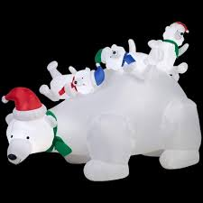 home depot inflatable christmas decorations lighted polar bear christmas decorations christmas decorations 2017