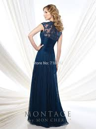 2015 mother of the bride pant suits navy bule crepe wedding party