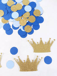 royal prince baby shower decorations crown confetti baby boy