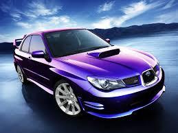 purple subaru outback subaru impreza wrx sti un coche de color morado metalizado para