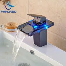 Wholesale And Retail 3 Led Color Changing Waterfall Bathroom Faucet Bathroom Fixtures Wholesale