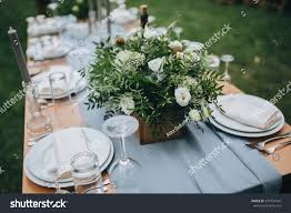 Wedding Flowers Greenery Wedding Flower Arrangement White Flowers Greenery Stock Photo