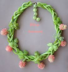 pink coloured beads necklace images 148 best beadwoven necklaces ropes images beaded jpg