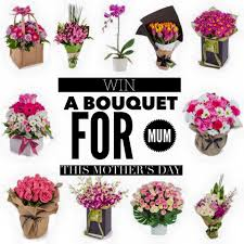 Flowers For Mum - day giveaway win a bouquet of flowers for mum