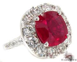 diamond red rings images Red blood ruby ring ladies anniversary fashion white gold 18k jpg