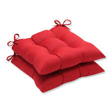 amazon com pillow perfect indoor outdoor red solid tufted seat