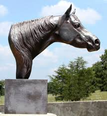 the look horse head bust statue by marrita mcmillian black equine