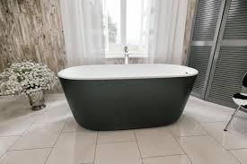 Composite Bathtub Aquatica Lullaby Blck Wht Freestanding Solid Surface Bathtub