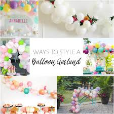 balloon garland ways to style a balloon garland one stylish party