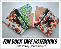 so smart use duck tape and a plastic straw to make notebooks with