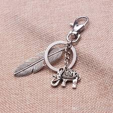 classic elephant ring holder images New design unique elephant keychains girl antique silver 3d mini jpg