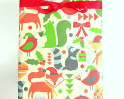 where to find wrapping paper fox wrapping paper etsy