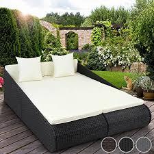 Miadomodo Polyrattan Sun Lounger Indoor Outdoor Garden Sofa Day - Indoor outdoor sofas 2