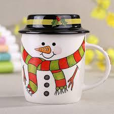 aliexpress com buy cartoon santa snowman ceramic christmas