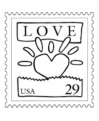 bluebonkers usps love stamp coloring pages love heart stamp