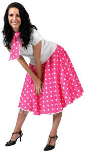 pink costumes polka dot sock hop skirt candy apple costumes 50 s costumes