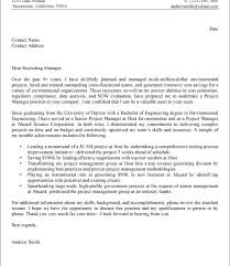 environmental engineering cover letter environmental test