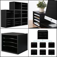 Desk Organizers Fitueyes Wood Desk Organizer Workspace Organizers Black Do403501wb