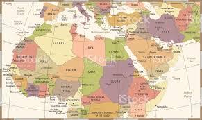 africa map khartoum africa map vintage vector illustration stock vector