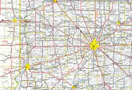 Route 66 Illinois Map by Interstate Guide Interstate 74