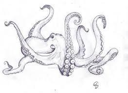 coloring pages alluring octopus drawings tattoo sleeve kraken