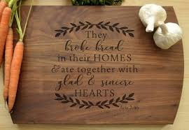 monogramed cutting boards engraved cutting board they bread christian cutting board per