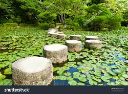 zen stone path japanese garden near stock photo 89625073