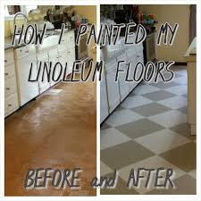 the virtuous how i painted my linoleum floors
