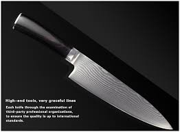 high end kitchen knives aliexpress com buy xyj brand damascus pattern knife 8 inch chef