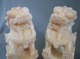 marble foo dogs carved pink marble foo dogs awesome in foo dog lions