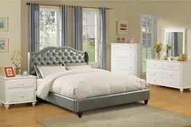 Silver Queen Bed 4 Pc Janelle Ii Silver Faux