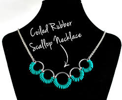 jewelry rubber rings images Free easy jewelry project coiled rubber scallop necklace and jpg