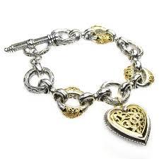 gold bracelet with heart charms images Designer charm bracelet gerochristo 6275 solid gold silver jpg