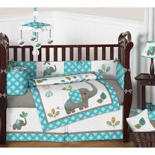 sweet jojo designs mod elephant 9 crib bedding set reviews
