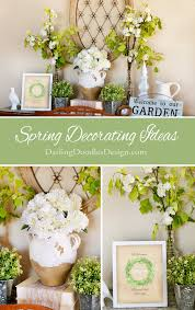 spring decorating ideas and free welcome spring printable