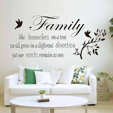 Family Like Branches On A Tree Quotes Wall Decal Sticker Wall Decals - Family room wall decals