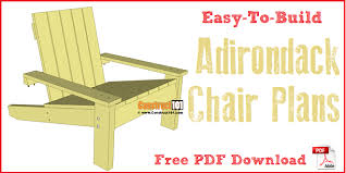 Outdoor Furniture Plans Free Download by Simple Adirondack Chair Plans Diy Step By Step Project
