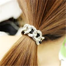 hair cuff metal chain hair cuff band new women headband elastic