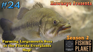 Florida Everglades Map by Fishing Planet S2 Ep 24 Farming Largemouth Bass At The
