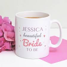 personalised u0027beautiful bride to be u0027 mug by martha brook