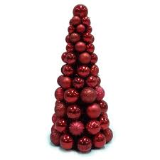 home accents 18 in shatterproof ornament cone tree in