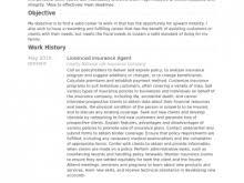 insurance cv examples insurance producer resume example free resume