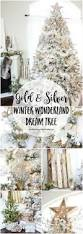 how to decorate a flocked gold and silver winter wonderland