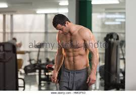 Hairy Healthy Young Man Standing Stock Photos Hairy Healthy