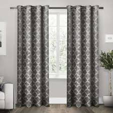 Black And Gray Curtains Blackout Gray Curtains Drapes Window Treatments The Home